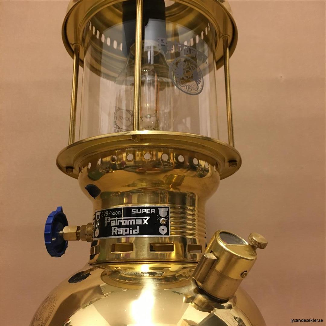 petromax rapid mässing krom elektrisk elektrifierad bordslampa taklampa (60)
