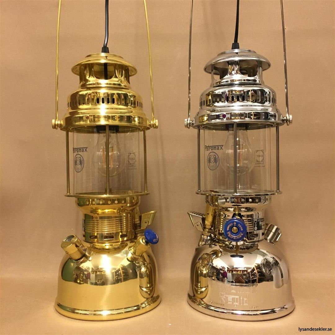 petromax rapid mässing krom elektrisk elektrifierad bordslampa taklampa (47)