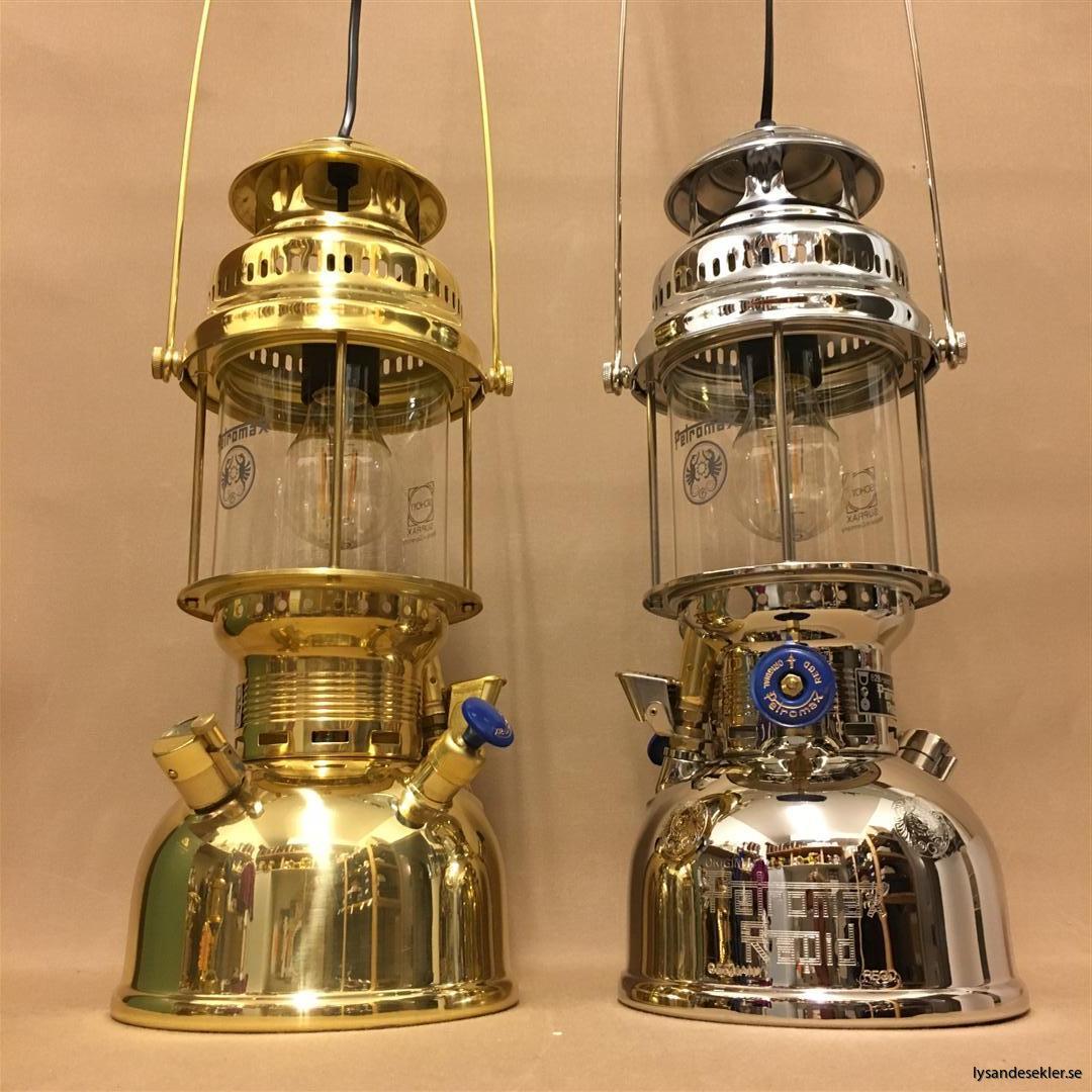 petromax rapid mässing krom elektrisk elektrifierad bordslampa taklampa (48)