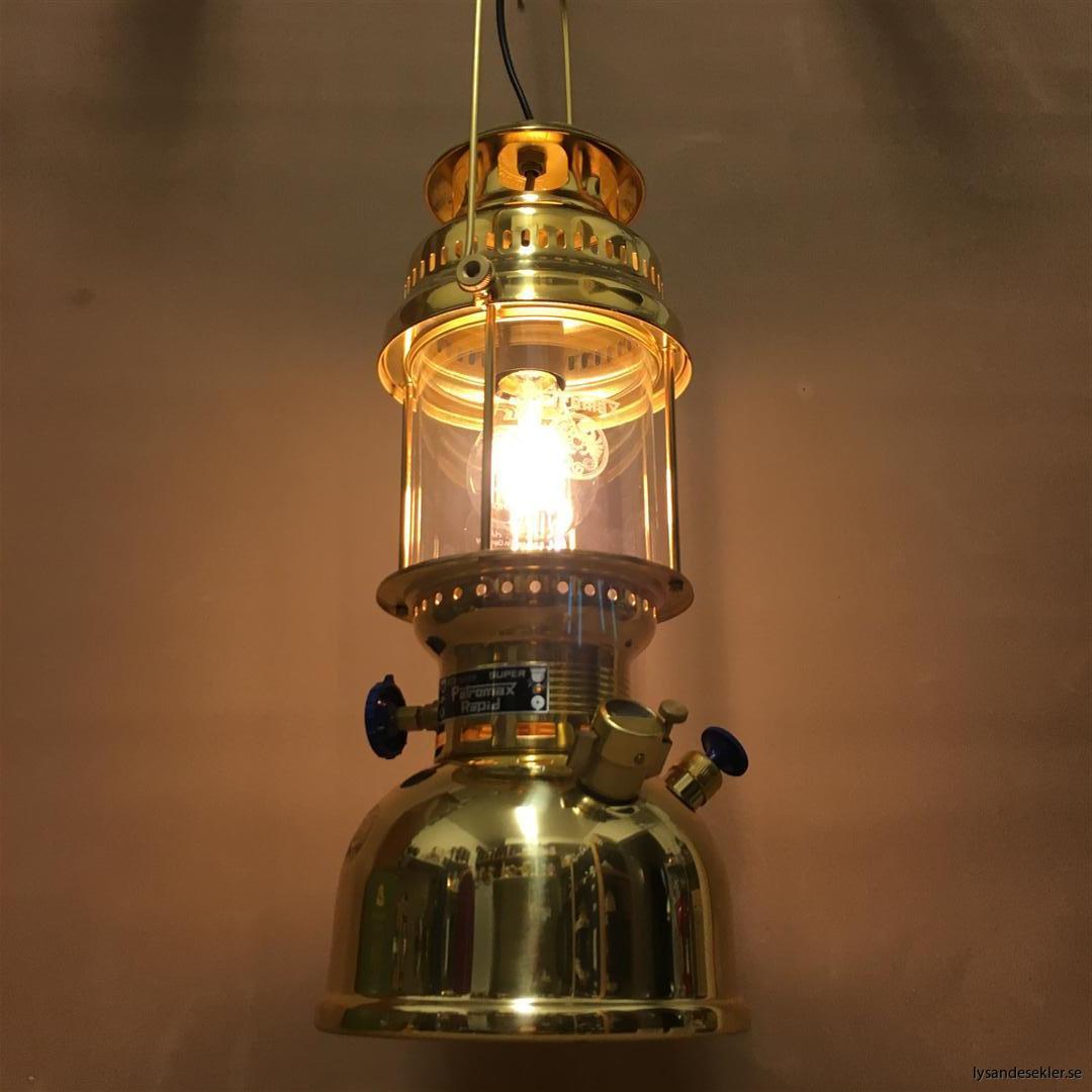petromax rapid mässing krom elektrisk elektrifierad bordslampa taklampa (54)