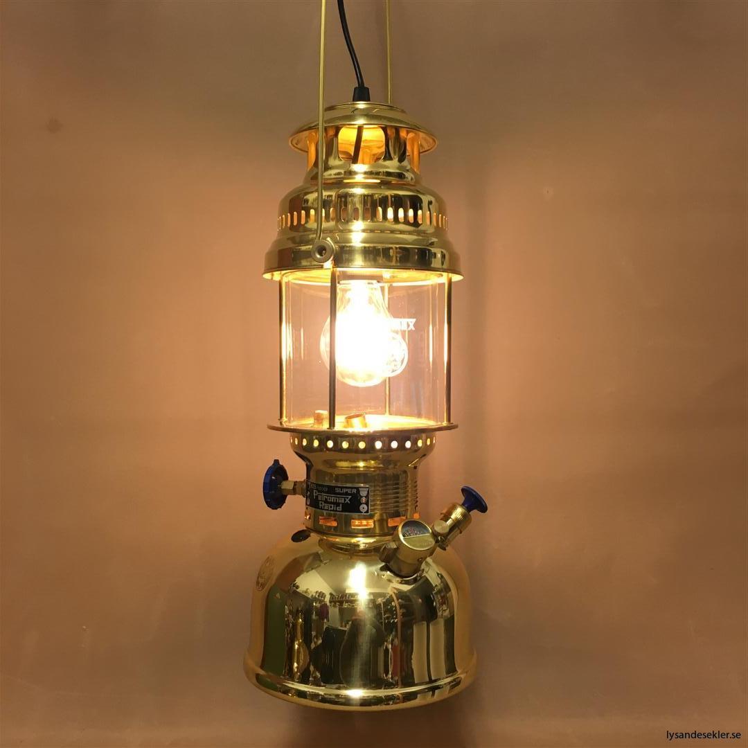 petromax rapid mässing krom elektrisk elektrifierad bordslampa taklampa (55)