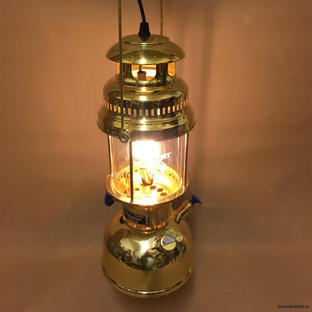 petromax rapid mässing krom elektrisk elektrifierad bordslampa taklampa (56)