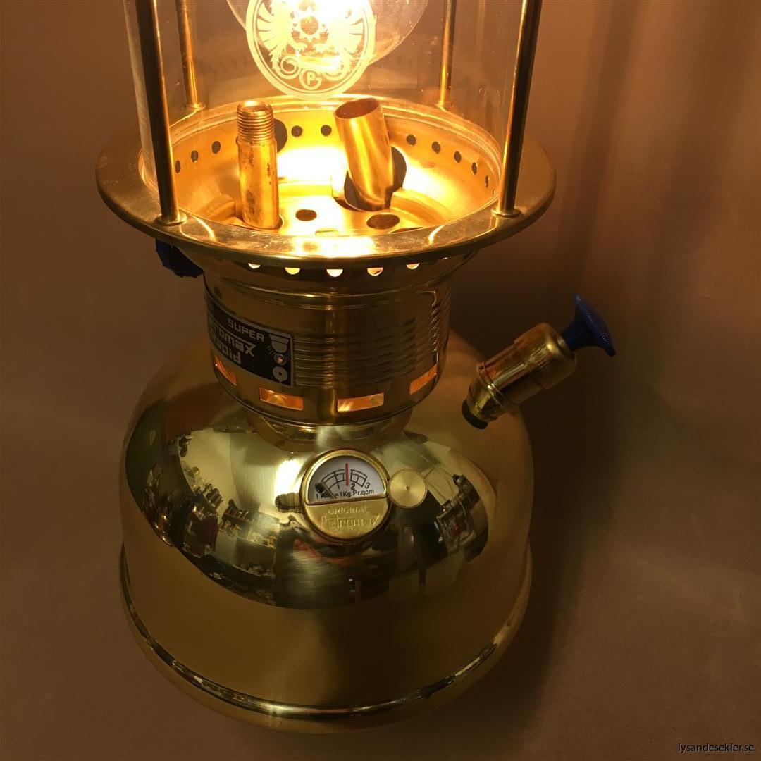 petromax rapid mässing krom elektrisk elektrifierad bordslampa taklampa (57)