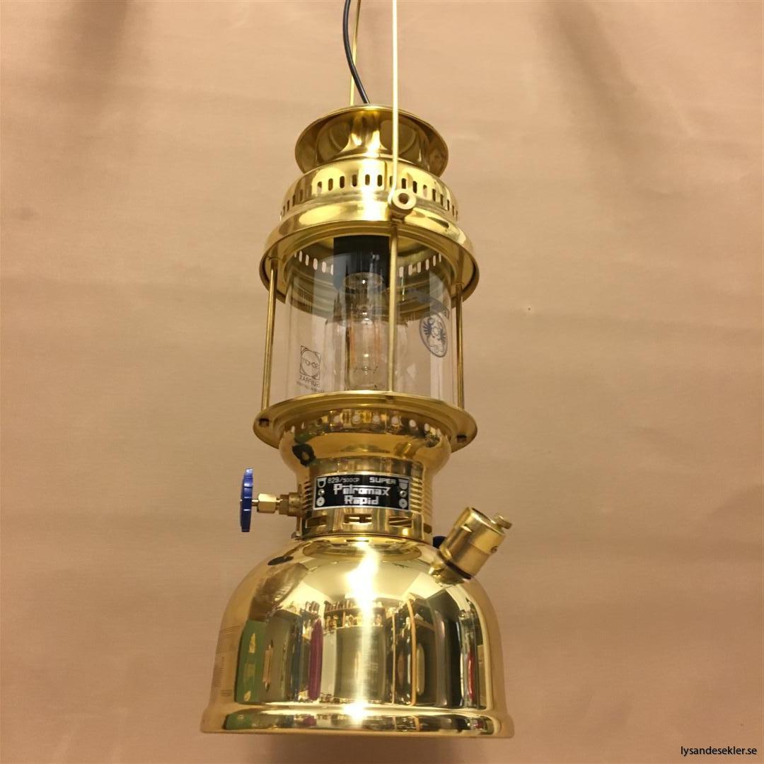 petromax rapid mässing krom elektrisk elektrifierad bordslampa taklampa (58)