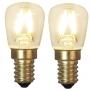 15 eller 20 cm - Skomakarlampor - vit, gul eller grön - TILLVAL: Glödlampa LED 2-pack päron