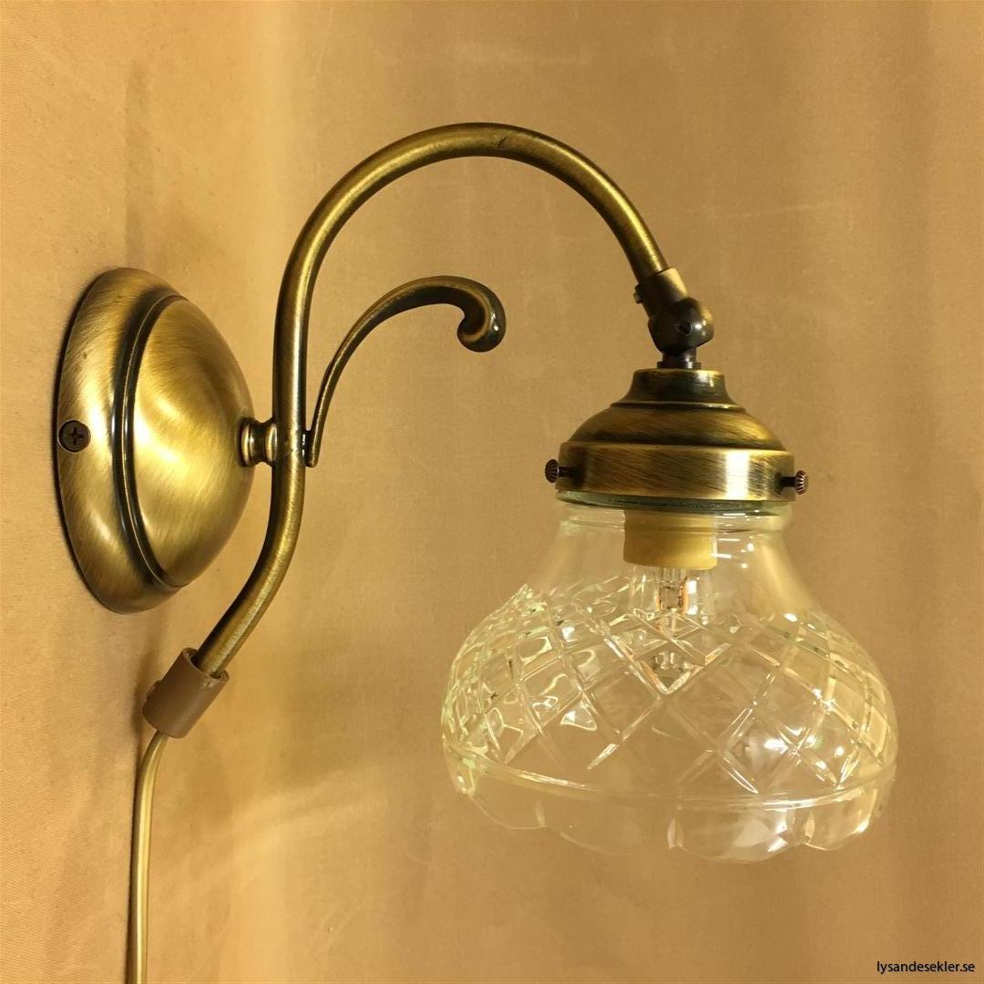 vägglampa jugend mässing elektrisk läslampa (78)