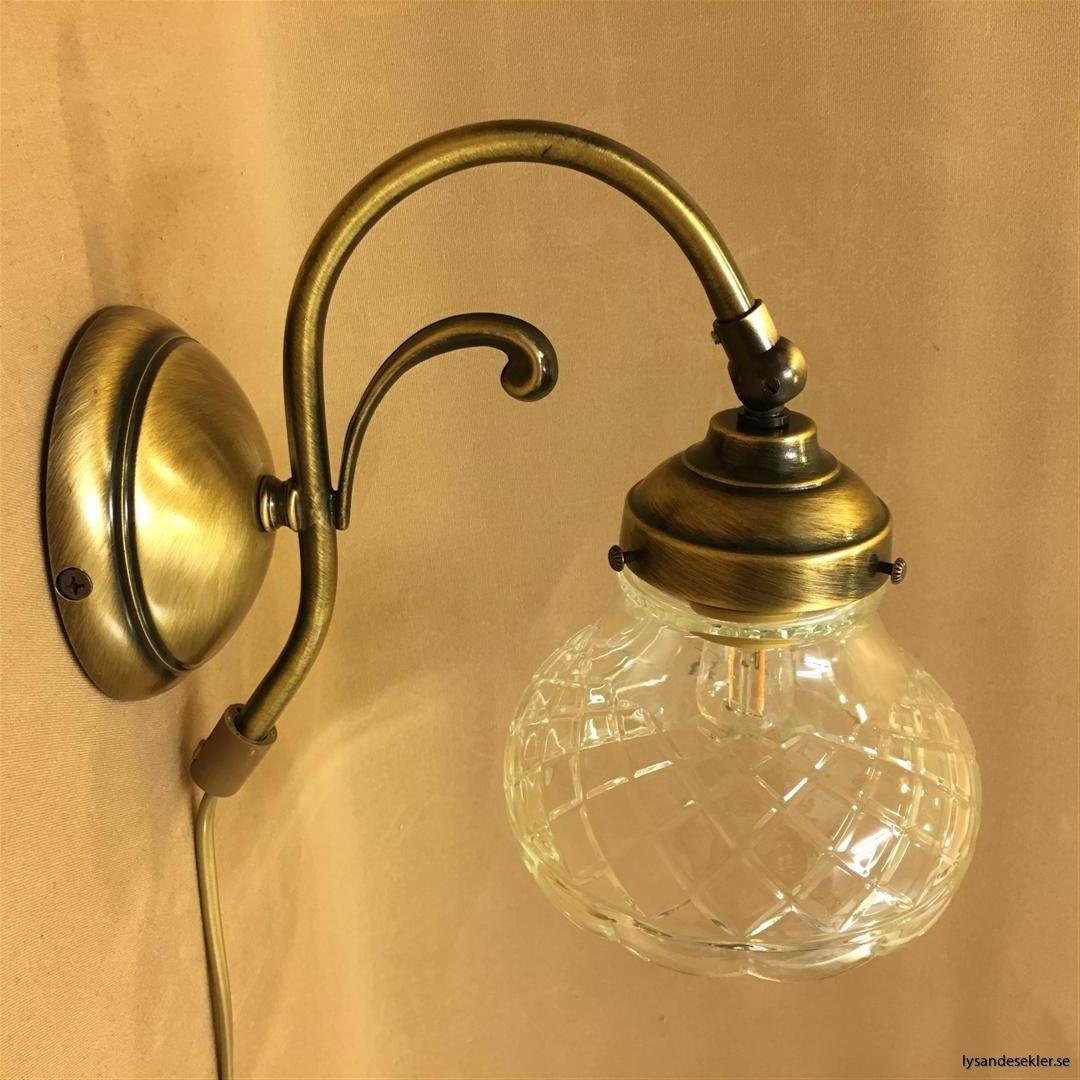 vägglampa jugend mässing elektrisk läslampa (79)