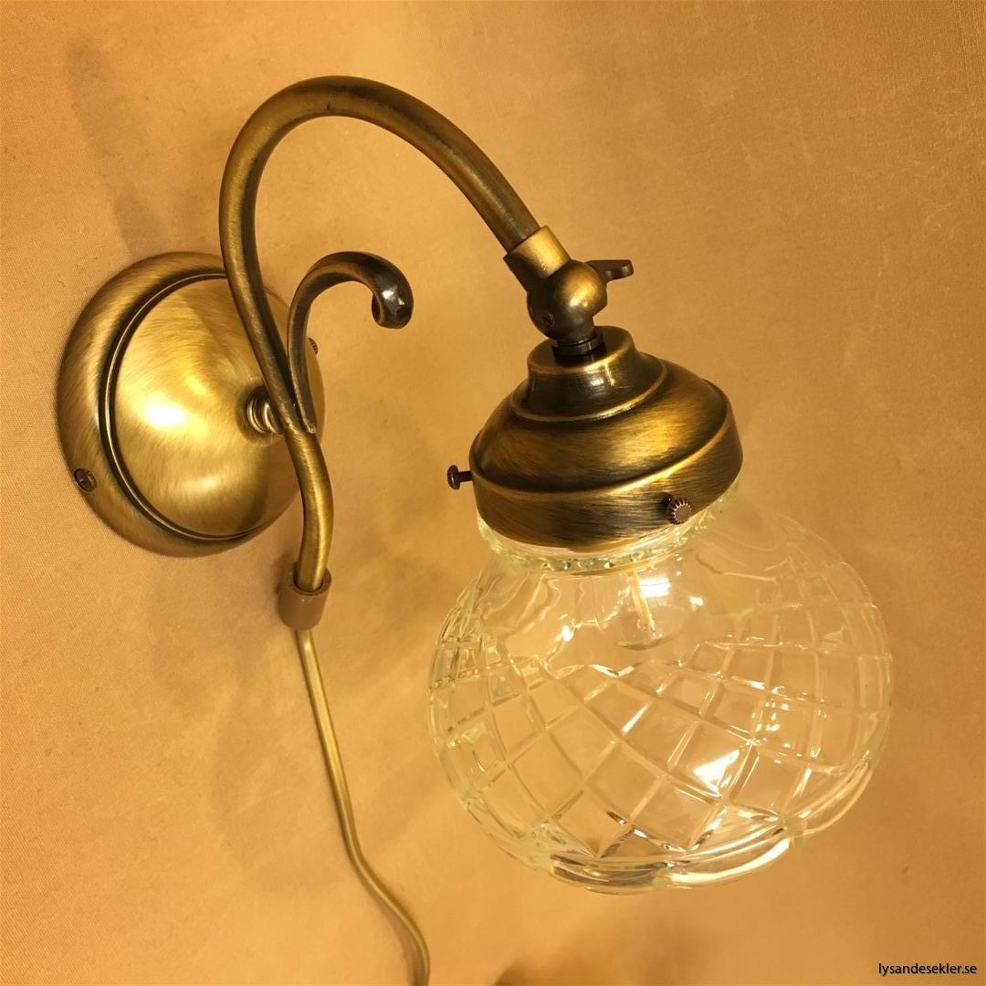vägglampa jugend mässing elektrisk läslampa (81)