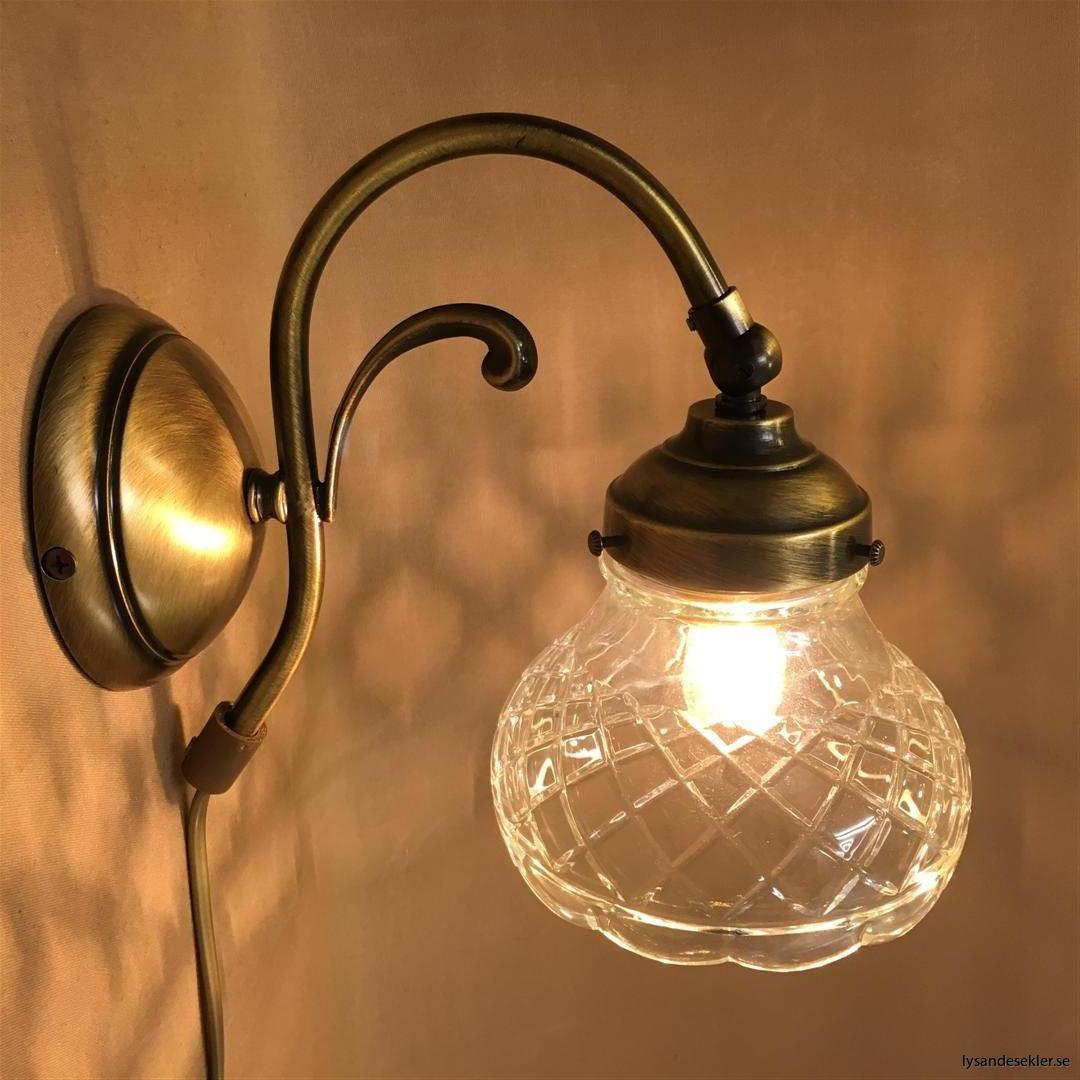 vägglampa jugend mässing elektrisk läslampa (75)