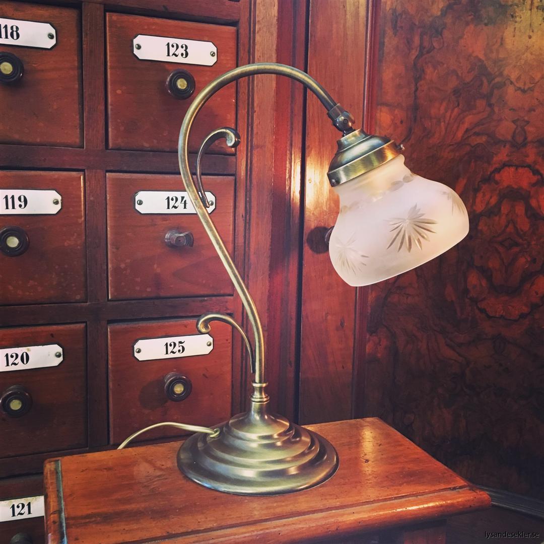 jugendlampa jugendlampan bordslampa mässing (18)