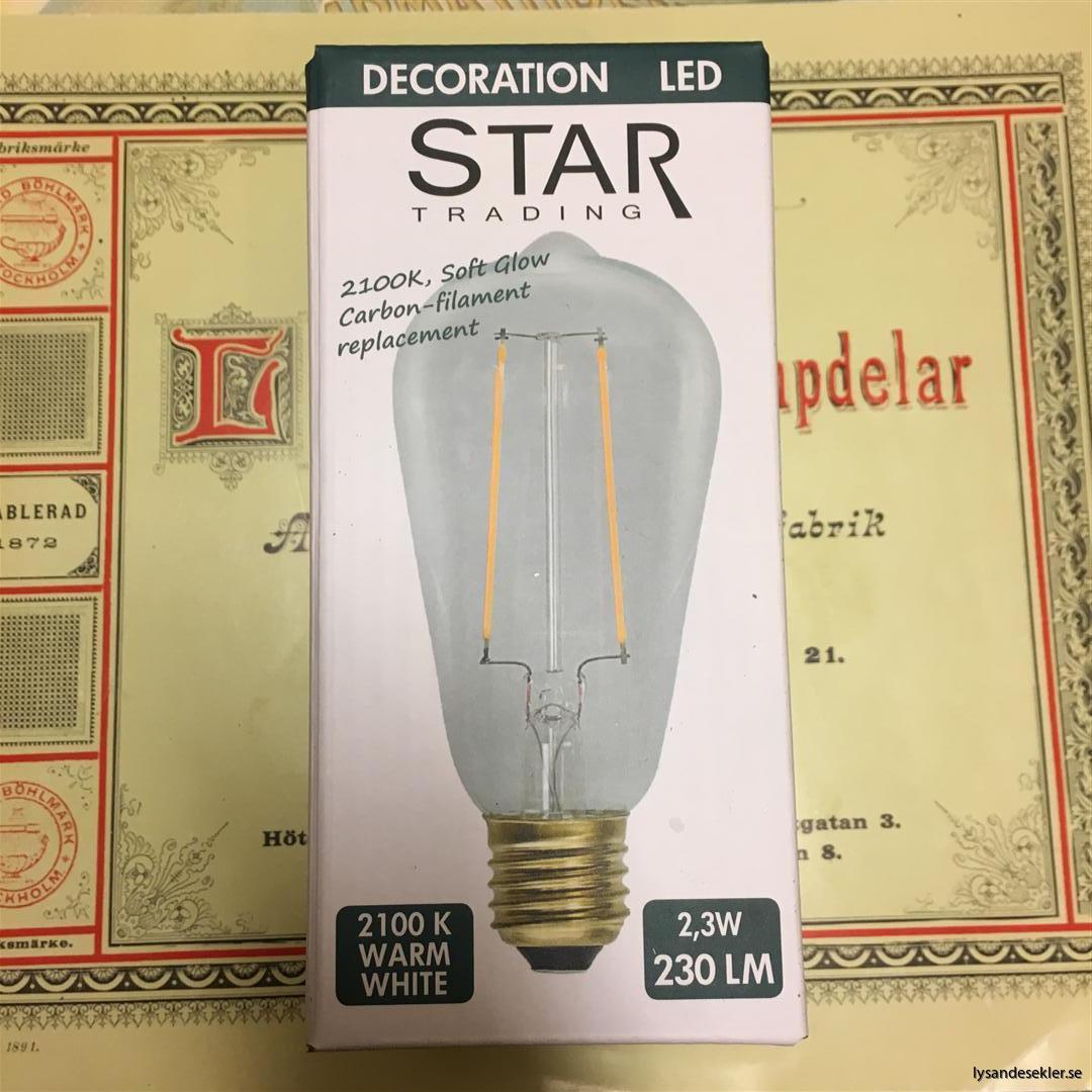 glödlampor LED koltråd filament varmt sken (15)