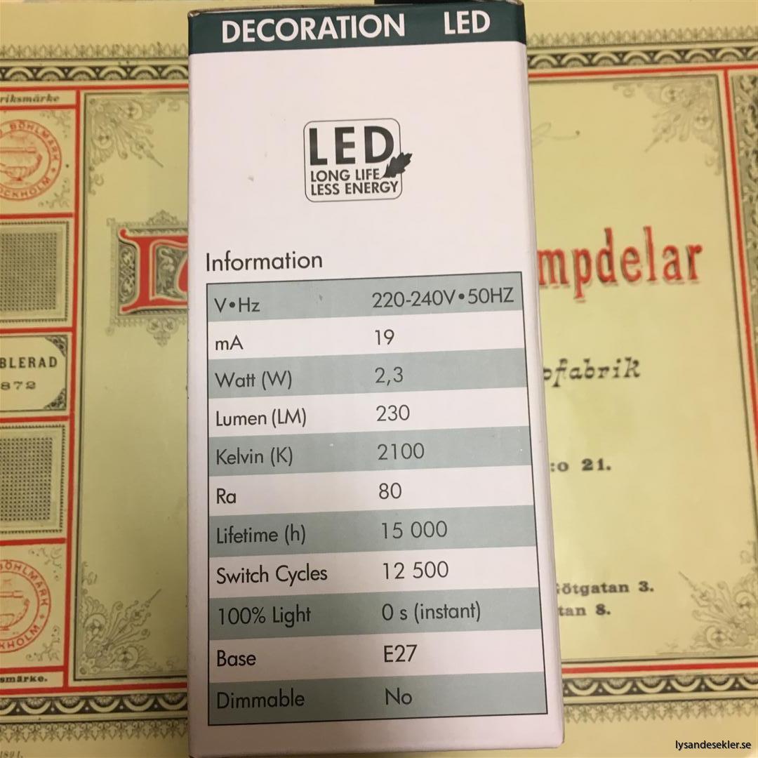 glödlampor LED koltråd filament varmt sken (16)