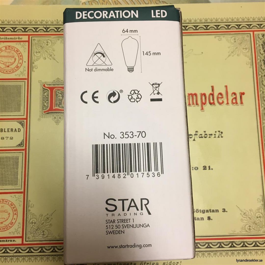 glödlampor LED koltråd filament varmt sken (17)