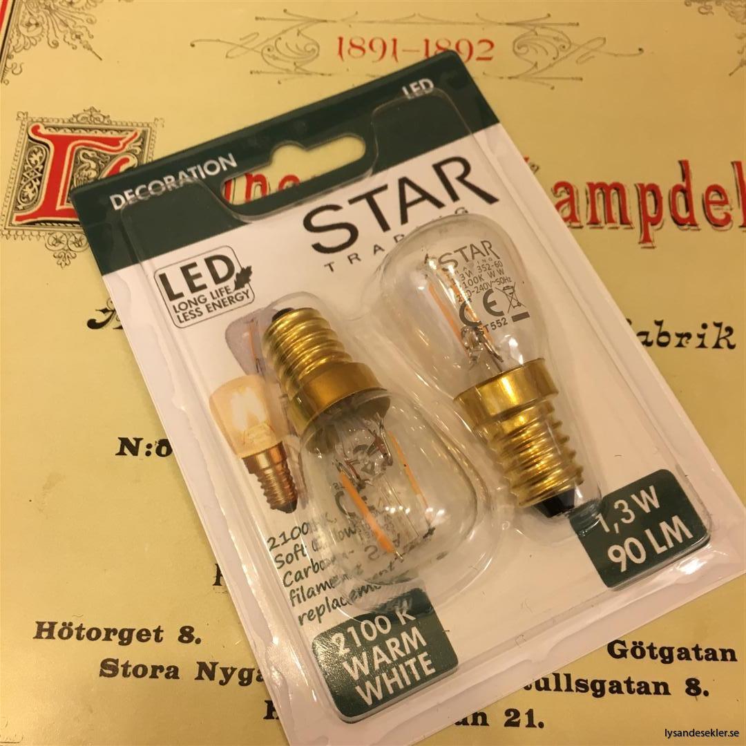 glödlampor LED koltråd filament varmt sken (1)