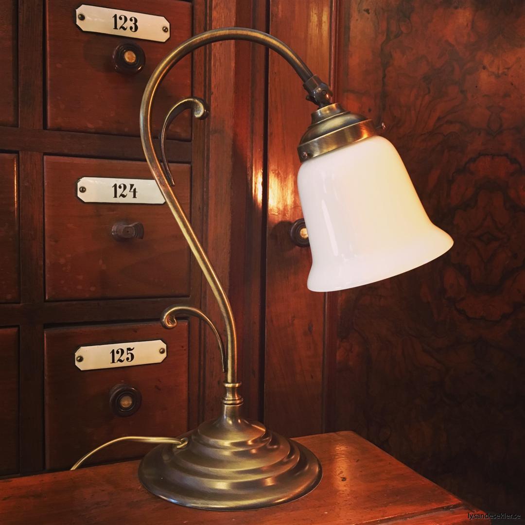 jugendlampa jugendlampan bordslampa mässing (34)