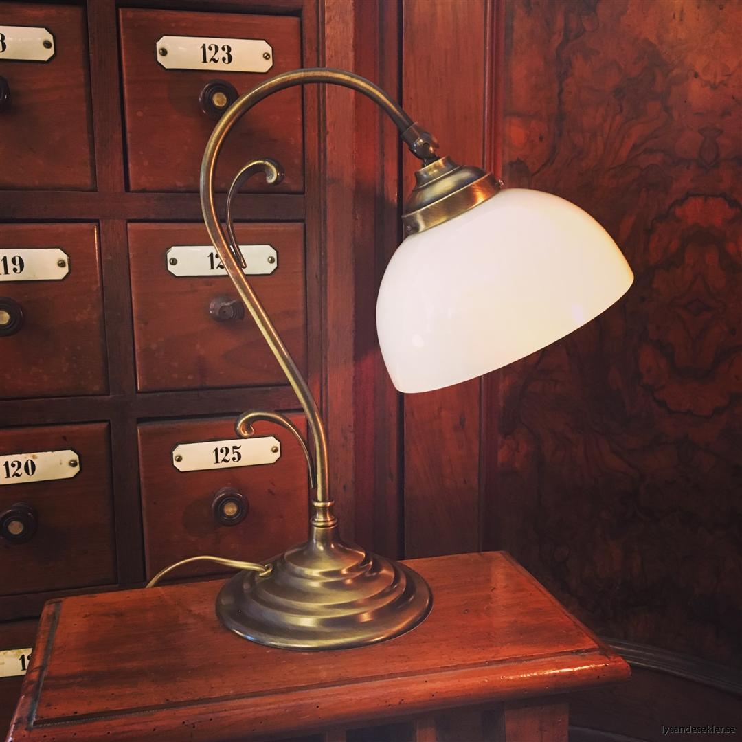 jugendlampa jugendlampan bordslampa mässing (9)