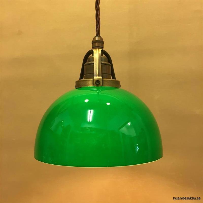 skålformad grön hänglampa