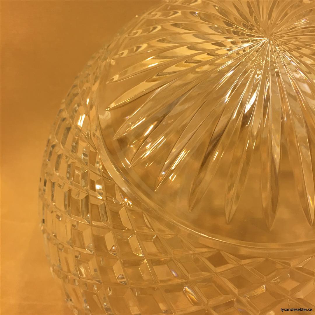 ampelglas slipat klarglas strindbergsskärm toppig