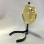 14''' oljehus glas/antiklackerad (Oljehus till fotogenlampor) - TILLVAL: Rund reflektor i mässing