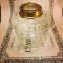 14''' hängoljehus (till bl.a. Torparelampor)  glas/mässing