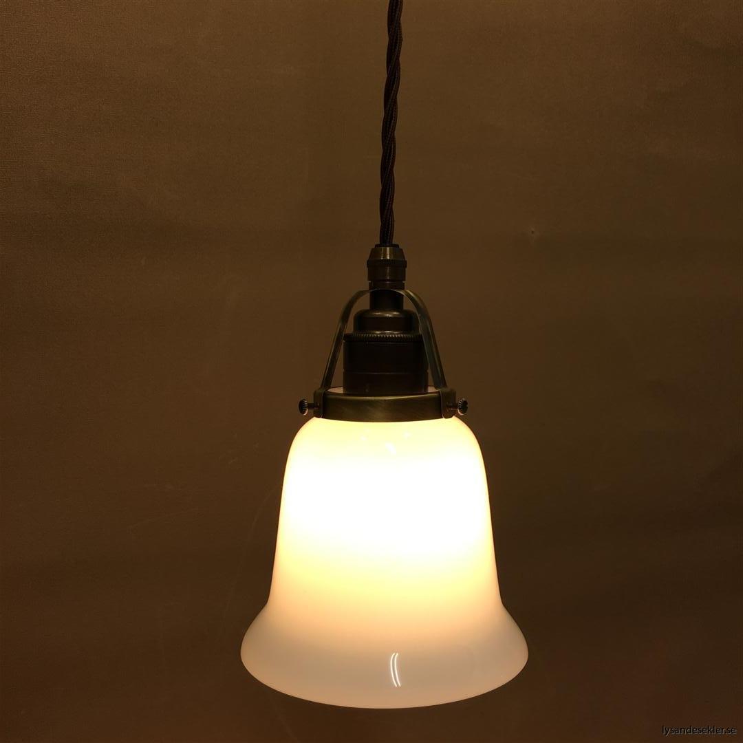 fönsterlampa tygsladd brun antik klofattning (30)