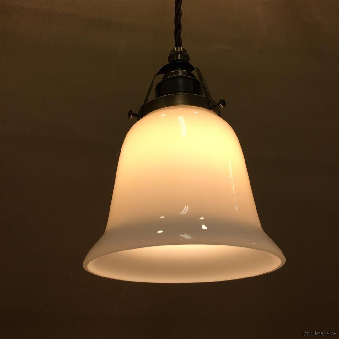 fönsterlampa tygsladd brun antik klofattning (31)