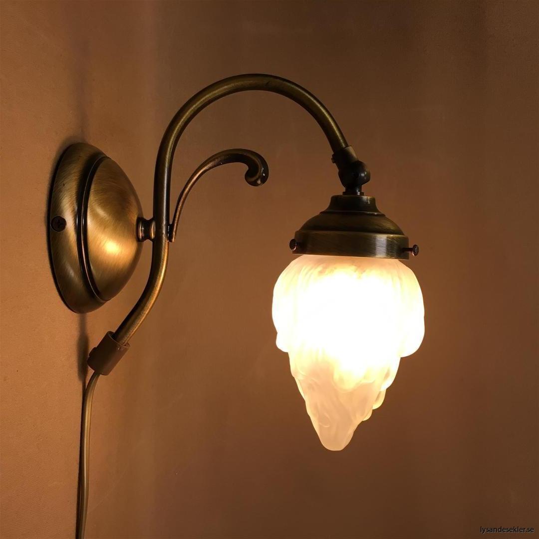 vägglampa jugend mässing elektrisk läslampa (95)