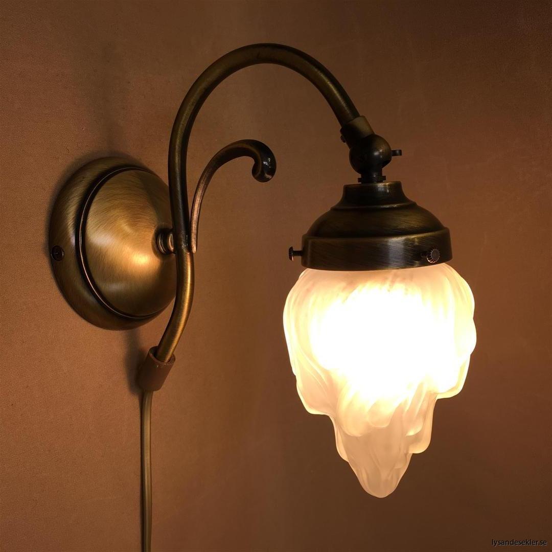 vägglampa jugend mässing elektrisk läslampa (96)