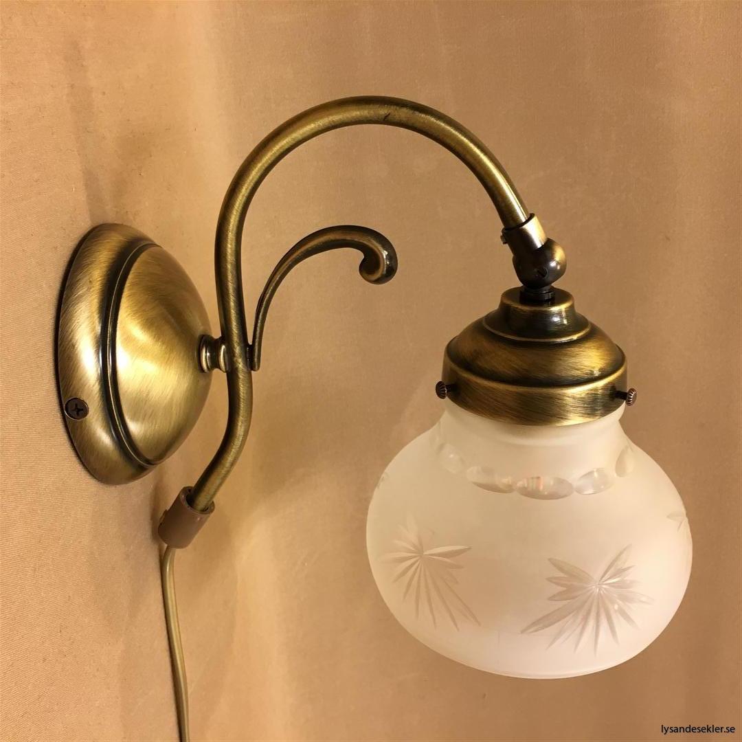 vägglampa jugend mässing elektrisk läslampa (84)