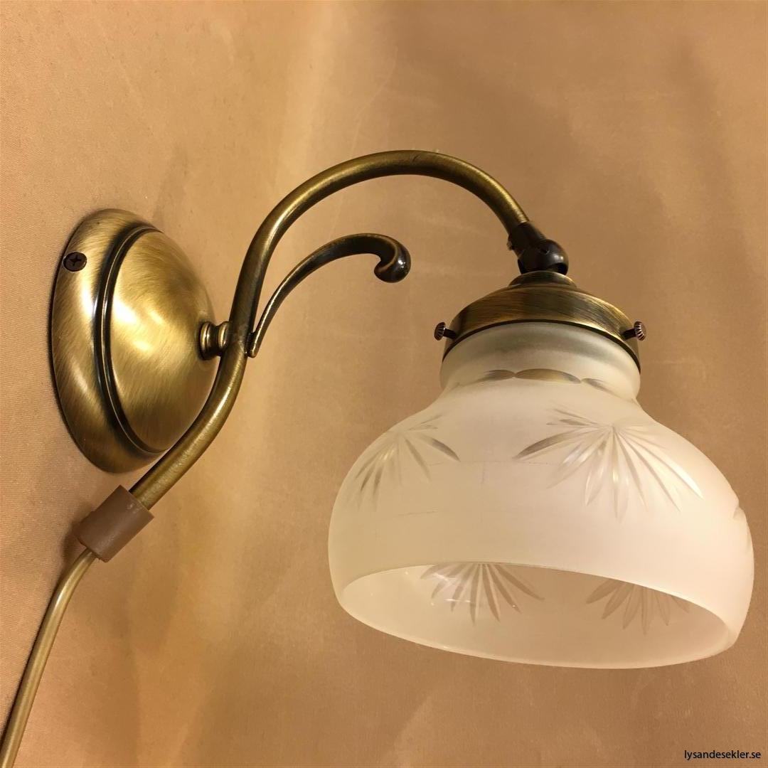 vägglampa jugend mässing elektrisk läslampa (85)