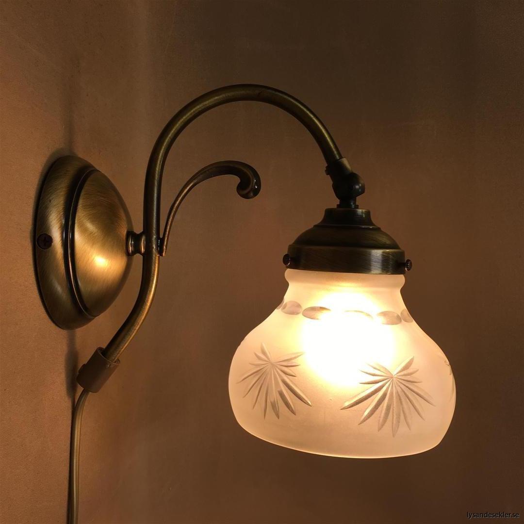 vägglampa jugend mässing elektrisk läslampa (87)