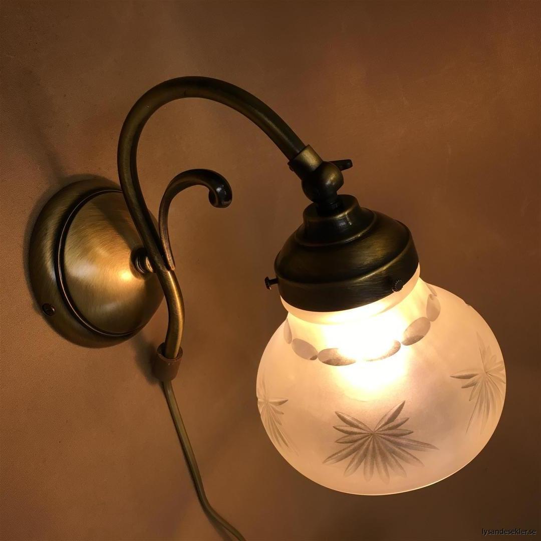 vägglampa jugend mässing elektrisk läslampa (88)