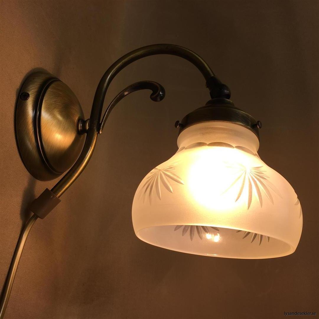 vägglampa jugend mässing elektrisk läslampa (86)