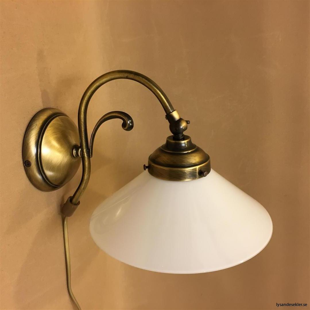 vägglampa jugend mässing elektrisk läslampa (44)