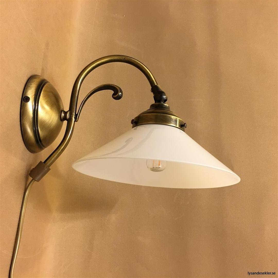 vägglampa jugend mässing elektrisk läslampa (45)