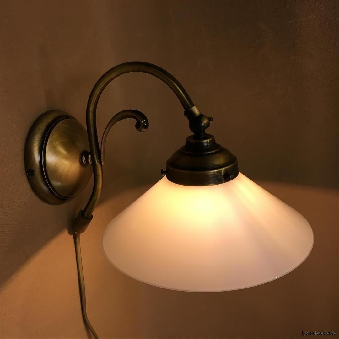 vägglampa jugend mässing elektrisk läslampa (48)