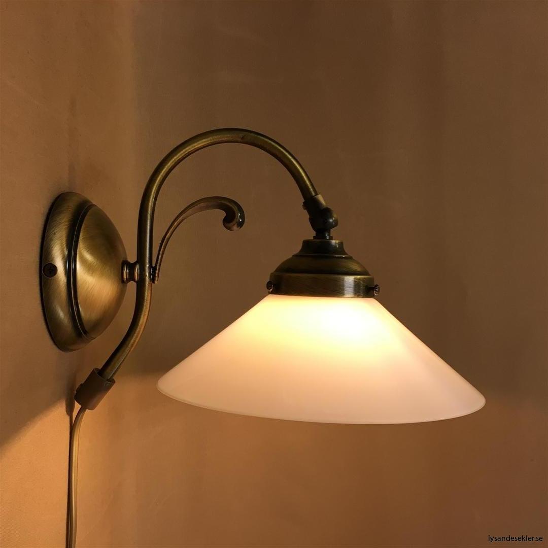 vägglampa jugend mässing elektrisk läslampa (47)
