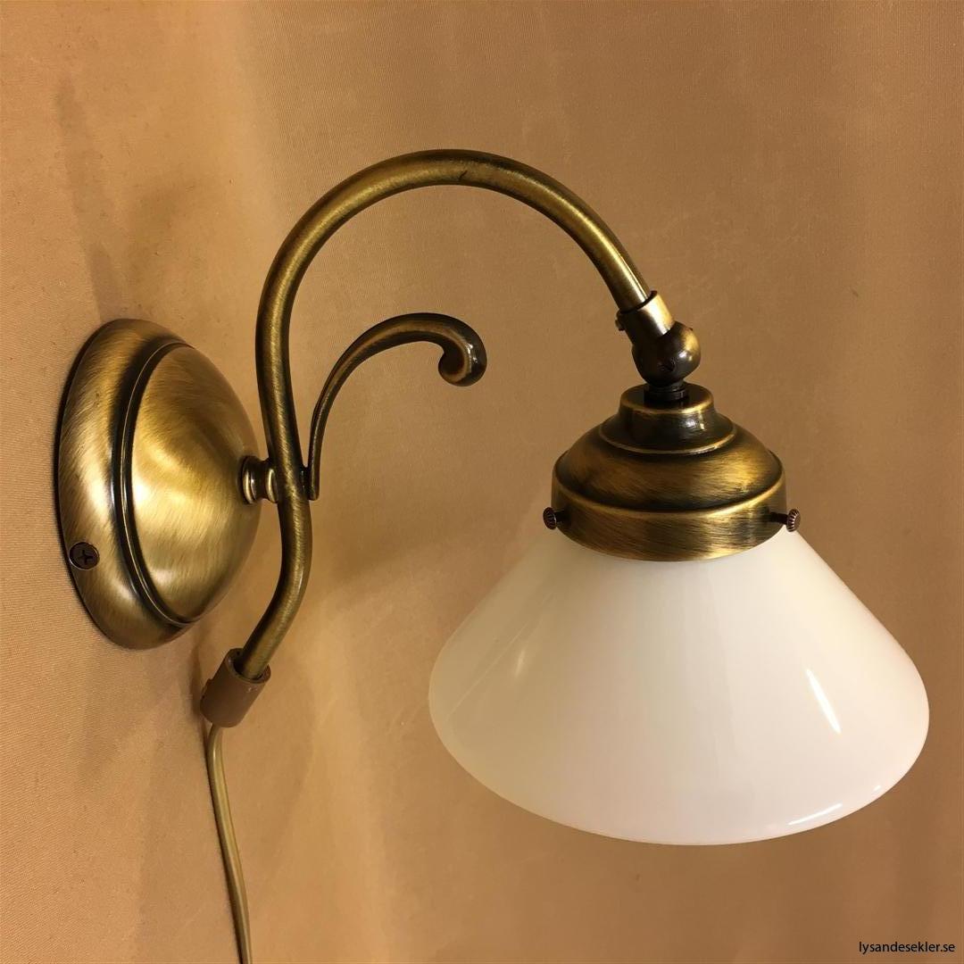 vägglampa jugend mässing elektrisk läslampa (55)