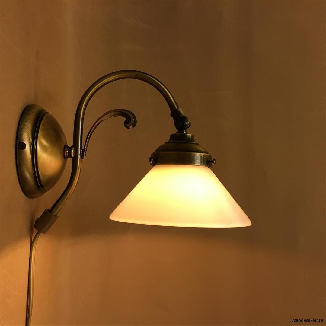 vägglampa jugend mässing elektrisk läslampa (49)