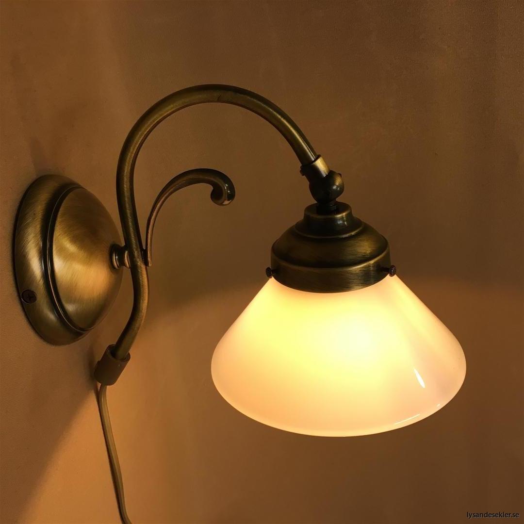 vägglampa jugend mässing elektrisk läslampa (50)