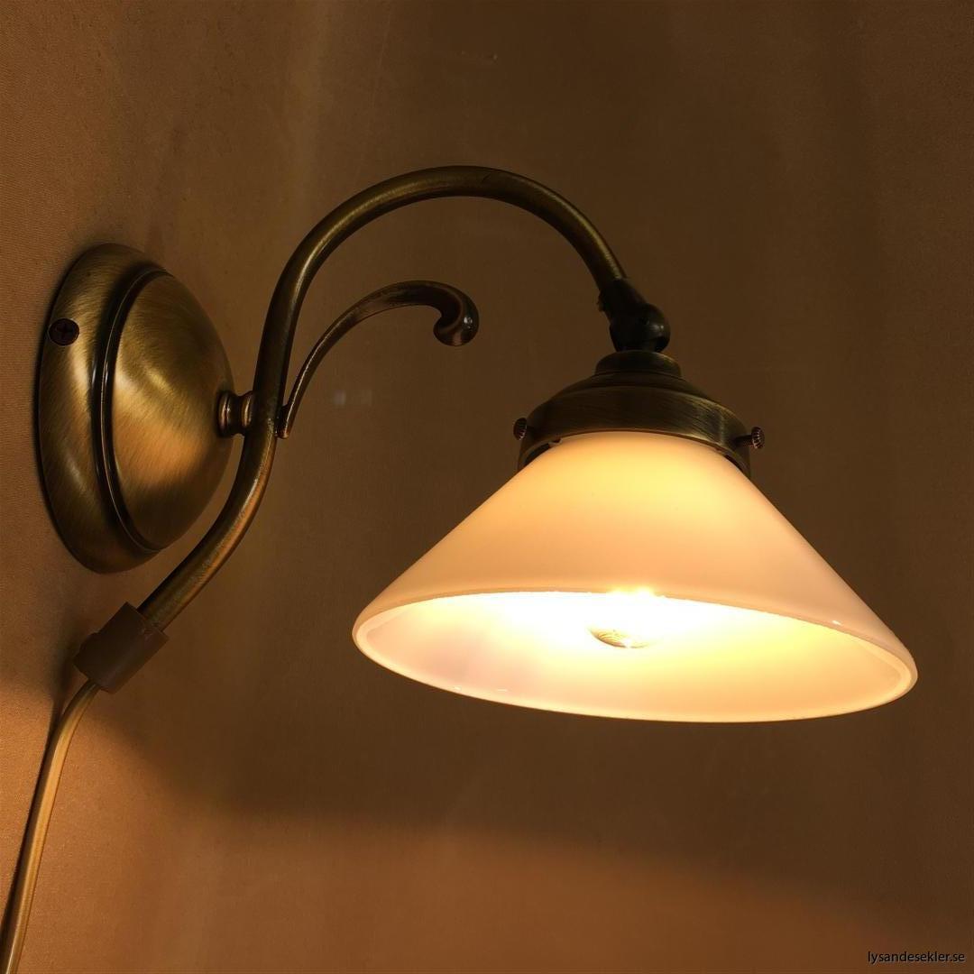 vägglampa jugend mässing elektrisk läslampa (51)