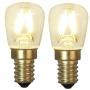 Vägglampa jugend med liten opalvit skomakarskärm - Tillval: LED koltråd E14 päron 2-pack glödlampor varmt sken