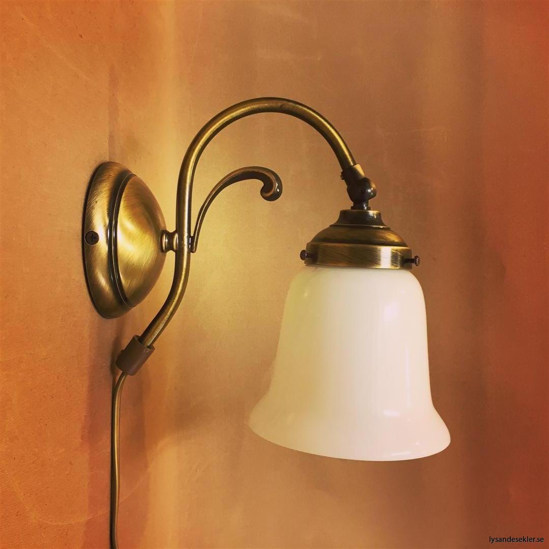 vägglampa jugend mässing elektrisk läslampa (117)