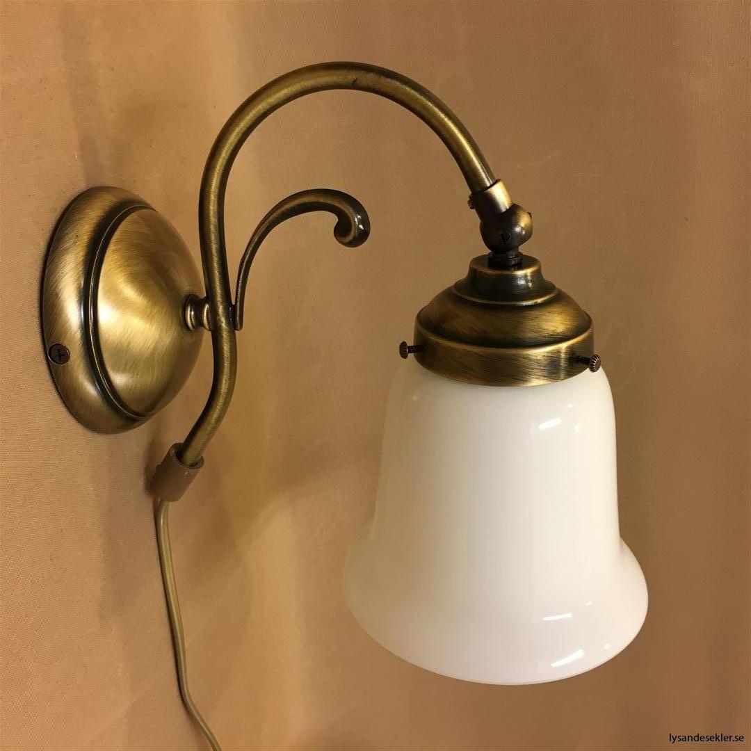 vägglampa jugend mässing elektrisk läslampa (119)