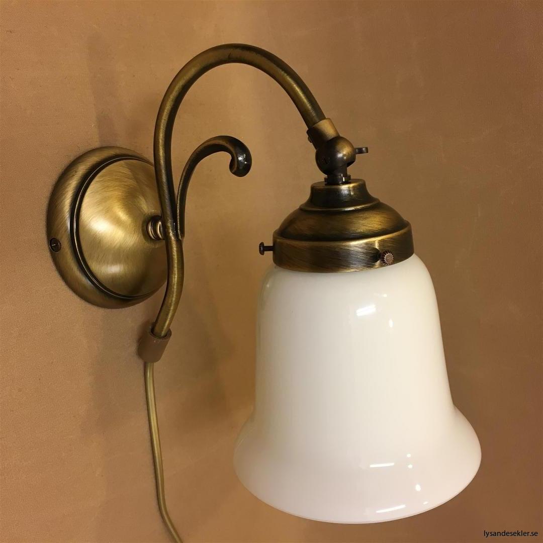 vägglampa jugend mässing elektrisk läslampa (120)