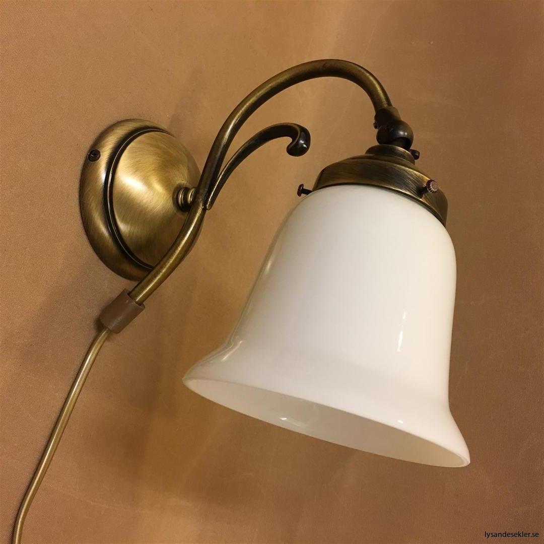 vägglampa jugend mässing elektrisk läslampa (122)