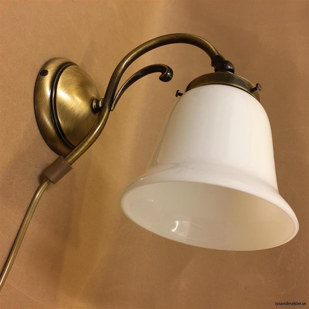 vägglampa jugend mässing elektrisk läslampa (123)