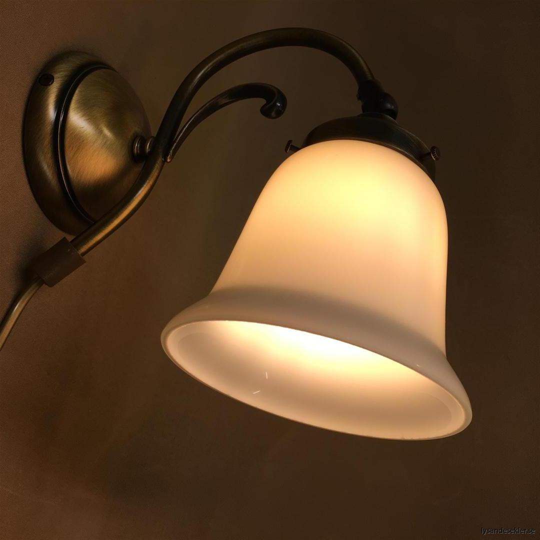 vägglampa jugend mässing elektrisk läslampa
