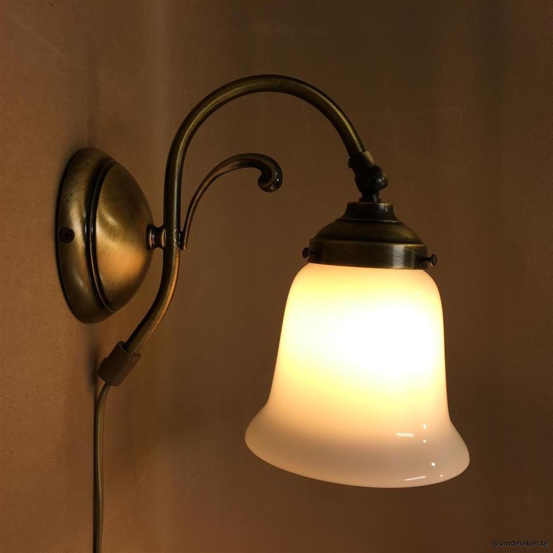 vägglampa jugend mässing elektrisk läslampa (124)