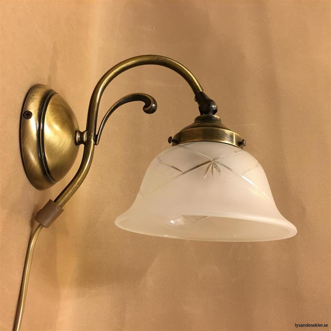 vägglampa jugend mässing elektrisk läslampa (65)